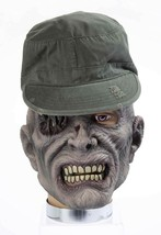 ADULT PVC LATEX ZOMBIE MASK W/HAT SARGE ACCESSORY - $25.13