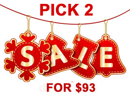 Mon - Tues Holiday Flash Sale! Pick Any 2 For $93 Best Offers Discount - $186.00