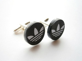 Adidas Cuff  Links, Engraved Adidas Logo  Laser Cut and Engraved Mirror ... - $17.95