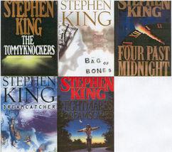 5)STEPHEN KING:BAG OF BONES;DREAMCATCHER;NIGHTMARES;FOUR PAST MIDNIGHT,T... - $29.99