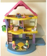 Fisher Price My First Dollhouse With Furniture and Figures Dolls Toy Lot... - $99.99