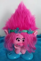 2016 GIRL TROLL LARGE DOLL DWA Styling Head Pink Poppy Styling Station T... - $8.95
