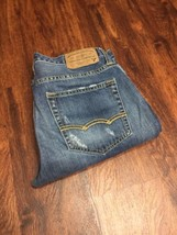 AMERICAN EAGLE Straight Leg Classic Rise Blue Denim Jeans Men's Size 30 ... - $508,21 MXN