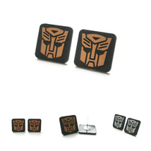 Transformer Earrings, Engraved Autobot Optimus Prime,  Medium Size Laser... - $9.95