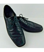 ECCO Men's New Jersey Tie Black Leather Oxford Euro Size 46 US Size 12 /... - $49.00