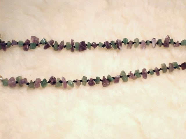 Cookie Lee Fluorite & Amethyst Necklace - Item #82128 - New, Wow! image 4