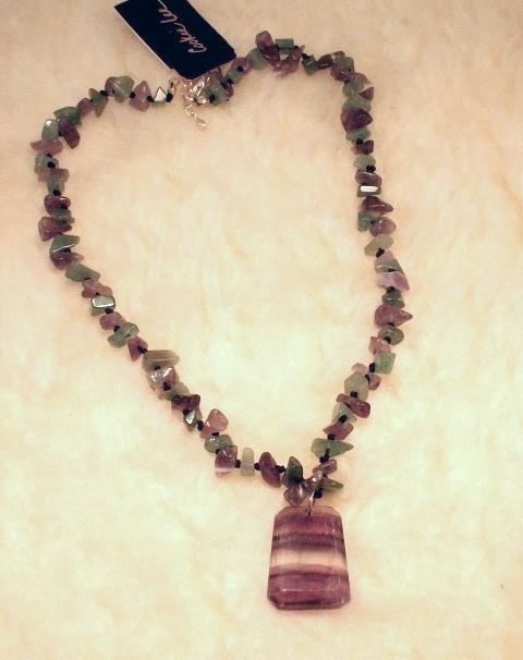 Cookie Lee Fluorite & Amethyst Necklace - Item #82128 - New, Wow! image 2