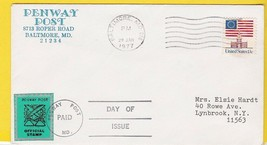 PENWAY POST OFFICIAL STAMP FIRST DAY BALTIMORE, MD JANUARY 20 1977  - $1.98
