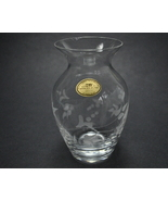Genuine Lead Crystal hand cut Vase Made in Italy with Foil - $9.50