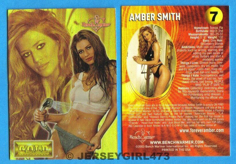 Amber Smith 2003 Bench Warmer Gold Edition Card #7