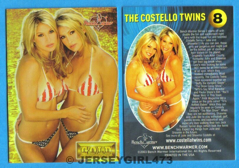 The Costello Twins 2003 Bench Warmer Gold Edition Card #8