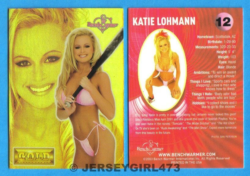 Katie Lohmann 2003 Bench Warmer Gold Edition Card #12