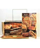 Pyrex Bake A Round By Corning Bread Tube & Rack W/Cookbook Made in USA - $27.71