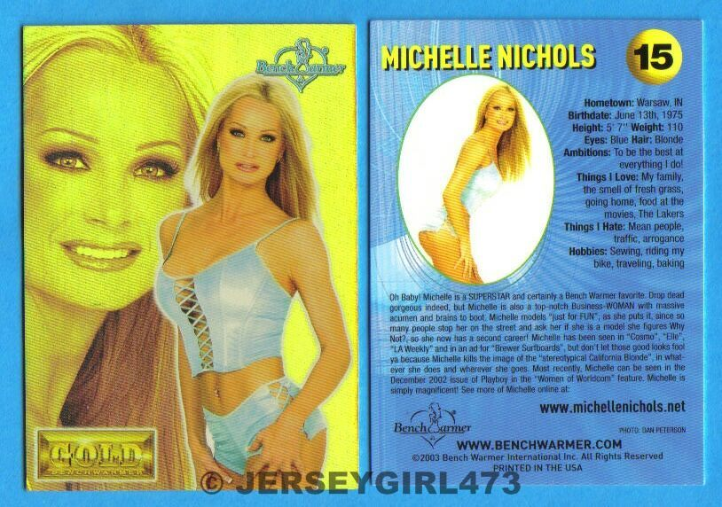 Michelle Nichols 2003 Bench Warmer Gold Edition Card #15