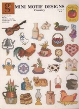 Mini Motif designs (Country) Cross Stitch Patterns, 1984 by Graphicworks... - $3.40