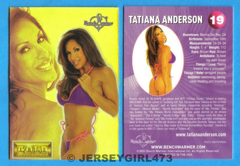 Tatiana Anderson 2003 Bench Warmer Gold Edition Card #19