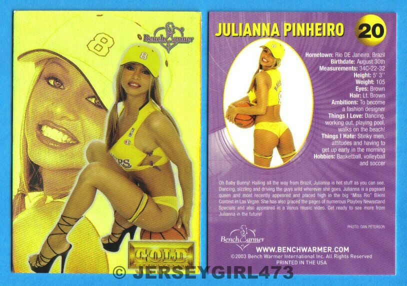 Julianna Pinheiro 2003 Bench Warmer Gold Edition Card #20
