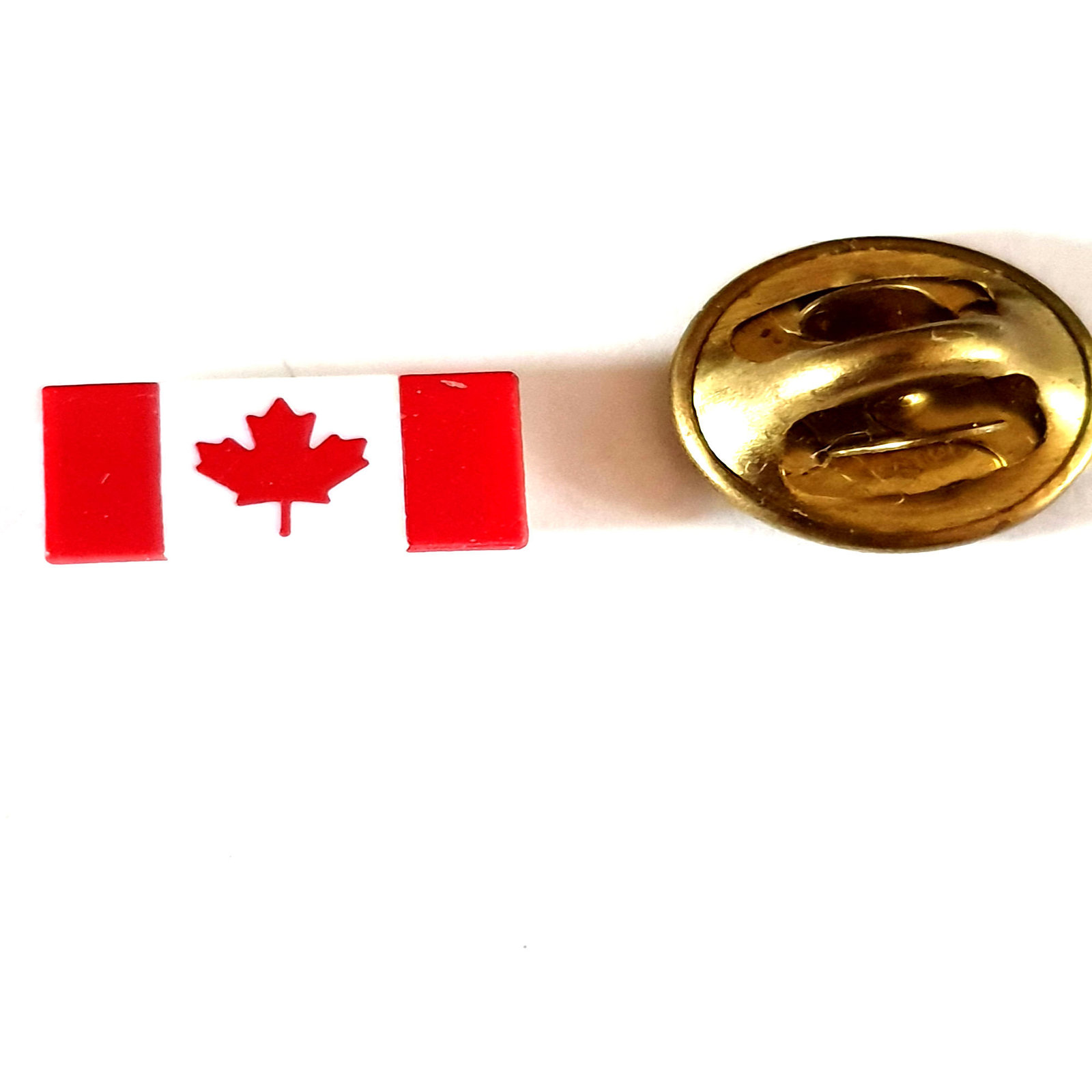 small Canada, Canadian Flag  lapel pin  handmade in uk from uk made parts, boxed