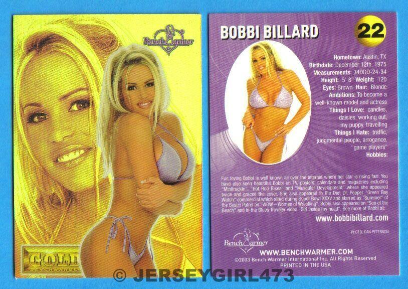 Bobbi Billard 2003 Bench Warmer Gold Edition Card #22