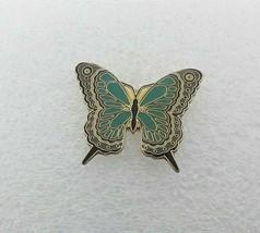 Butterfly Lapel Hat Pin - Green  - $11.87