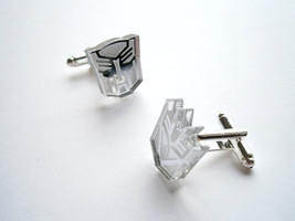Transformers Cuff links, Engraved Autobot and Megatron Lasercut  From Mi... - $17.95