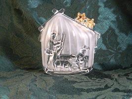 Mikasa Glass Christmas Holiday Sculpture - Golden Stars Series - Beautif... - $10.99