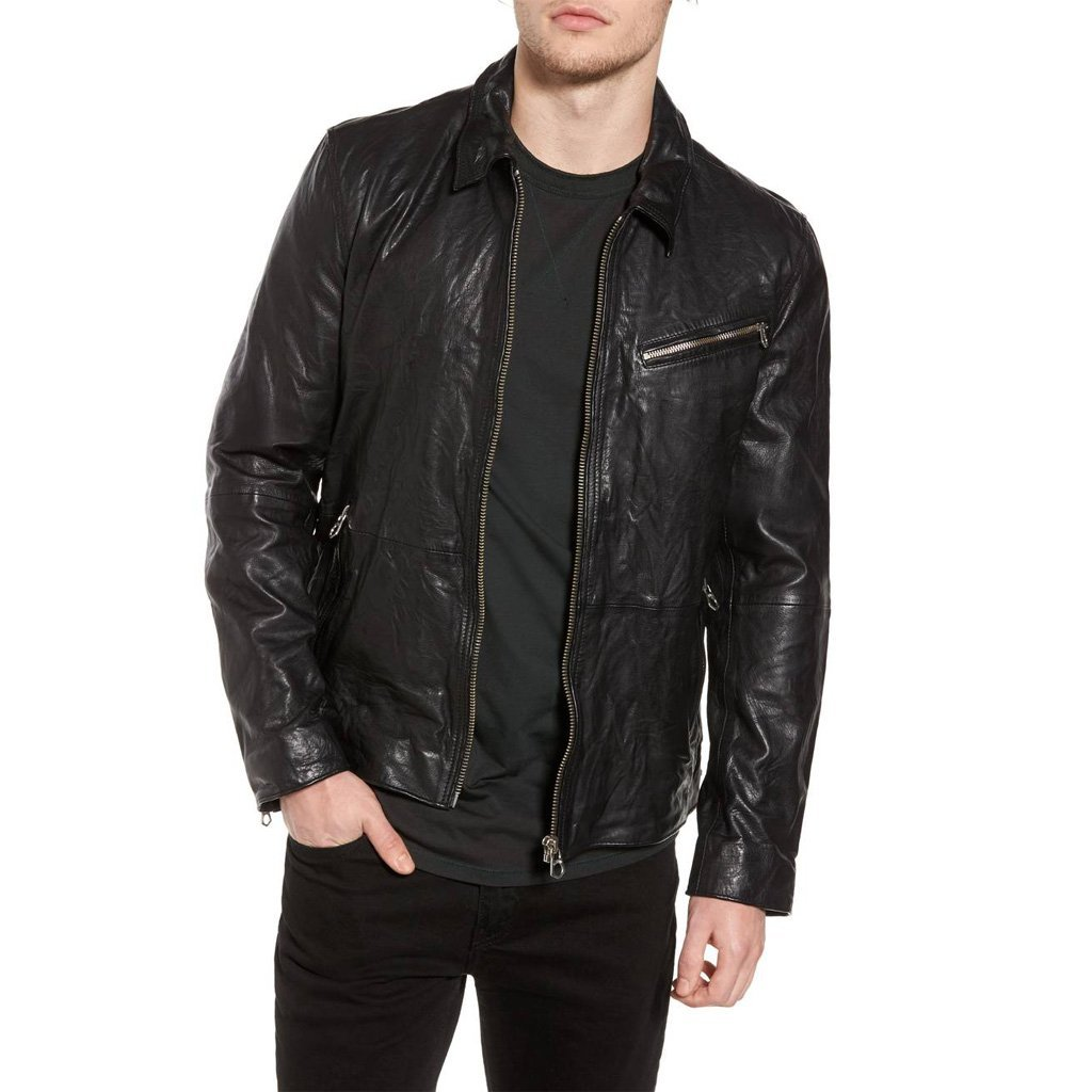 VINTAGE STYLE MEN COOL MILITARY LEATHER JACKET