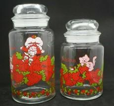 Vtg 1980 Anchor Hocking American Greetings Strawberry Shortcake Storage ... - $24.74
