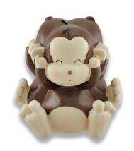Baby Monkey See, Speak, Hear No Evil Coin Bank 4.5 In - $21.73