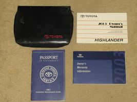 2003 Toyota Highlander Owner's Manual Set with Case - $15.99