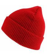 Trendy Apparel Shop Oversized Big Size Plain Ribbed Knit Cuff Long Beani... - $16.99