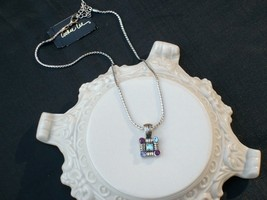 Cookie Lee Genuine Austrian Crystal Square Pendant Necklace - Item #8911... - $12.00