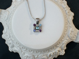 Cookie Lee Genuine Austrian Crystal Square Pendant Necklace - Item #89118 - New! image 3