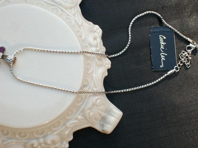 Cookie Lee Genuine Austrian Crystal Square Pendant Necklace - Item #89118 - New!