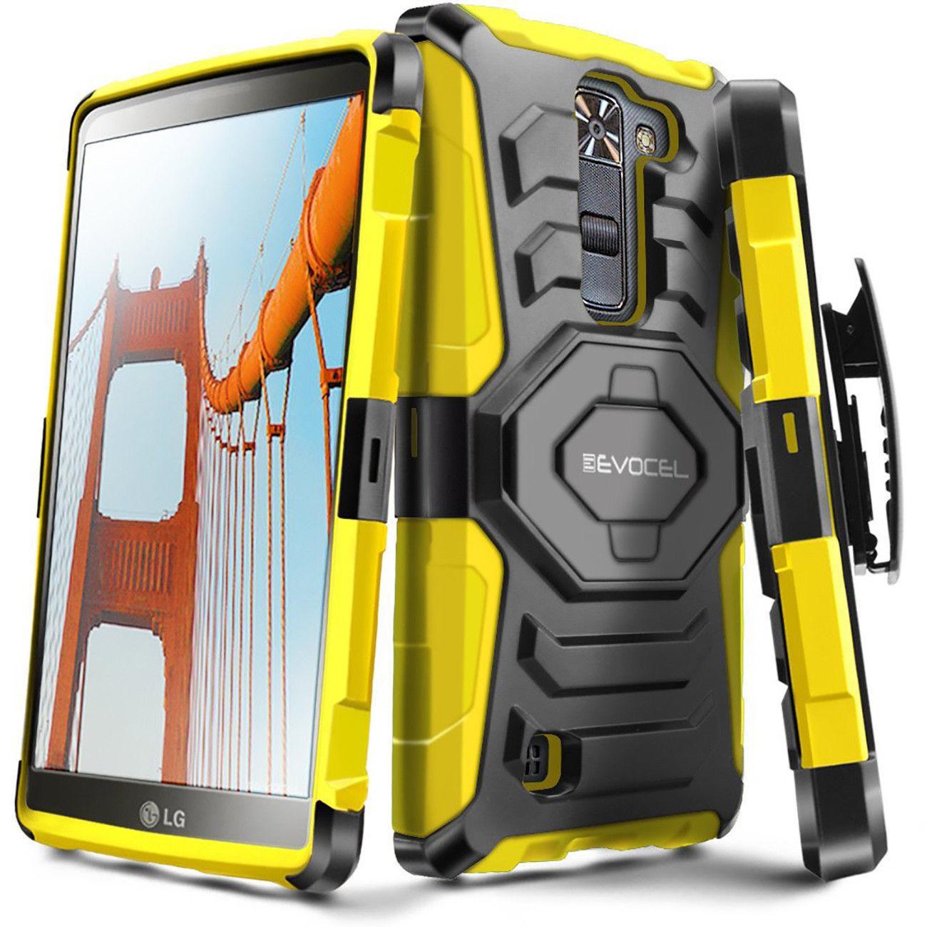 For LG K7 2016 / LG Tribute 5 Hard Shockproof Case Cover Clip Holster Kickstand