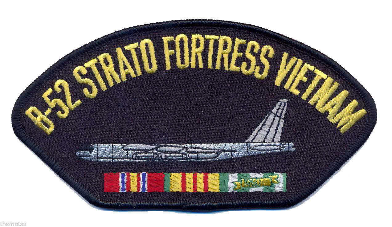 "Primary image for B-52 STRATOFORTRESS VIETNAM VETERAN  EMBROIDERED SERVICE RIBBON 6"" PATCH"