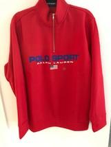 NWT Mens Polo Ralph Lauren Fleece Lined 1/2 Zip Jacket  Red XL - $109.99