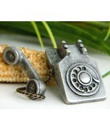Vintage Rotary Telephone Tie Tack Lapel Pin Pew... - $15.95