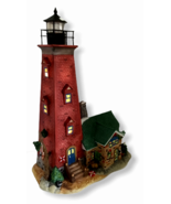 Far Harbour Lighthouse Santa's Workbench 2004 Lighted House Christmas Br... - $44.54
