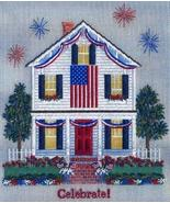 Independence Inn counted canvaswork needlepoint chart w/canvas Laura J P... - $19.57
