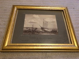 Antique Photo Launching of Schooner Jacob Haskell Boat sunk by German U-... - $79.15