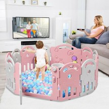 Kids Activity Center Playpen with Basket Hoop Music - $115.18