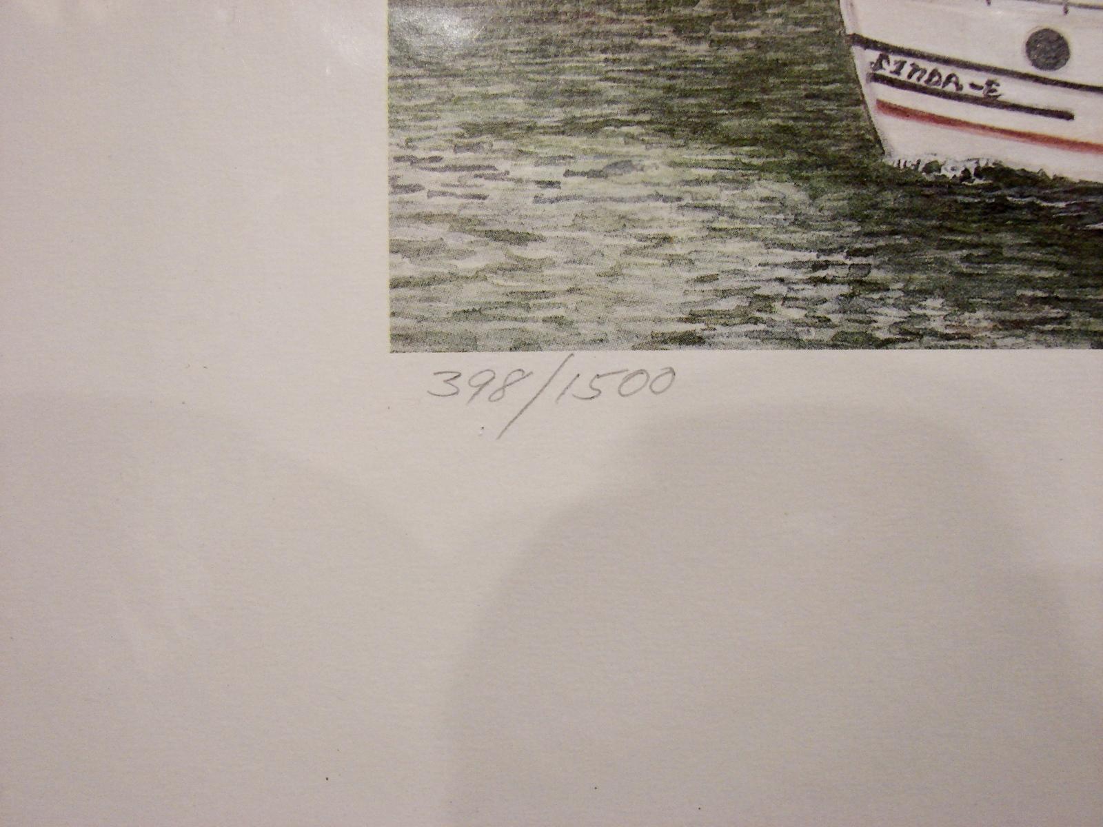 """James Milton Smith Autographed Lt. Ed Print """"Leaving Port """""""
