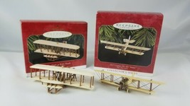 Hallmark Ornament Sky's The Limit 2 Airplanes Kitty Hawk Curtiss JN-4D J... - $14.80