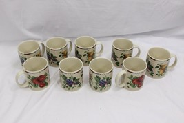 Oneida Sakura Sonoma Fruit Mugs Set of 9 - $48.99