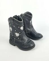Toddler Self Esteem Fashionable Ankle Boots W/ Side Zipper White Heart S... - $290,90 MXN