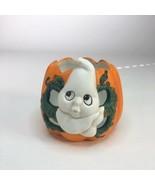 "Vintage Halloween Ghost Tea Light Ceramic Holder 3"" X 3"" - $13.07"
