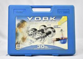 Vintage York Barbell 30lb. Adjustable Chrome Dumbbell Set - $168.25
