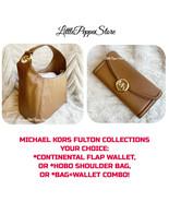 MICHAEL KORS LEATHER LUGGAGE FULTON LARGE HOBO SHOULDER BAG OR WALLET OR... - $69.18+