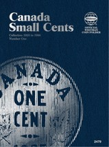 Canada Small Cents No. 1, 1920-1988, Whitman Coin Folder - $8.49